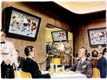 Реклама уиски предсказва бъдещето през 40-е години XX век